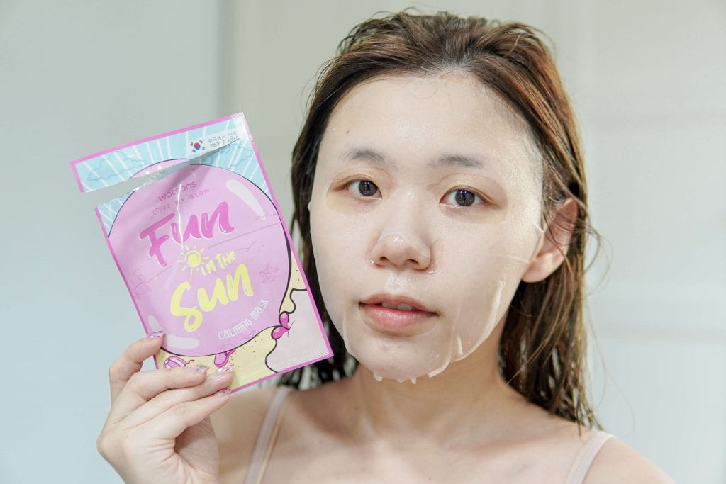 Fun in The Sun Calming Mask Watsons 7 days masks challenge
