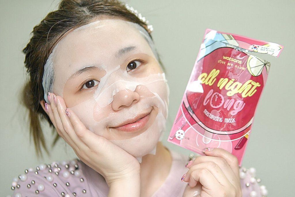 All Night Long Moisturising Mask Watsons 7 days masks challenge