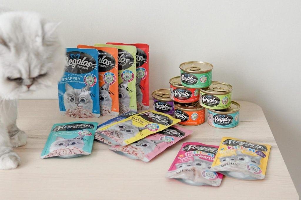 รีวิวอาหารแมว Regalos ไม่เติมเกลือ ทำจากปลาทูน่าเนื้อขาว เพื่อสุขภาพน้องเหมียว