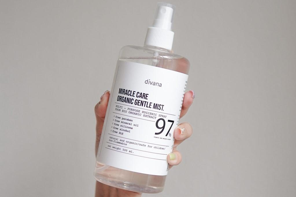 Miracle care organic gentle mist สเปรย์ฆ่าเชื้อโรค สำหรับคนแพ้แอลกอฮอล์